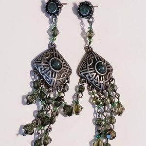 BOHO style Vintage earrings dangle pierced earring